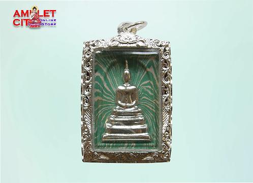 Phra Somdej Green White Striped @ LP Koon