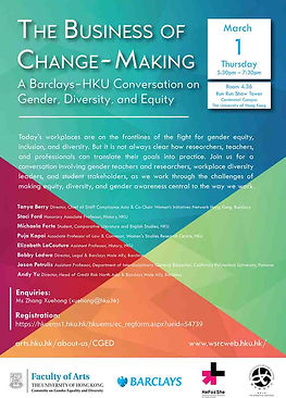 The Business of Change-Making: A Barclays-HKU Conversation on Gender, Diversity, and Equity