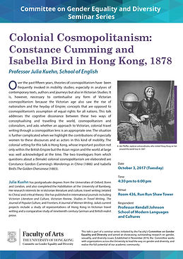 Colonial Cosmopolitanism: Constance Cumming and Isabella Bird in Hong Kong, 1878