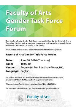 Gender Task Force Forum