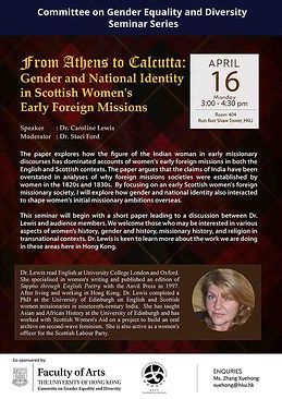 From Athens to Calcutta: Gender and National Identity in Scottish Women's Early Foreign Missions