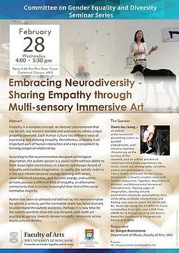 Embracing Neurodiversity - Sharing Empathy through Multi-sensory Immersive Art
