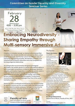 Embracing Neurodiversity - Sharing Empathy through Multi-sensory Immersive Art