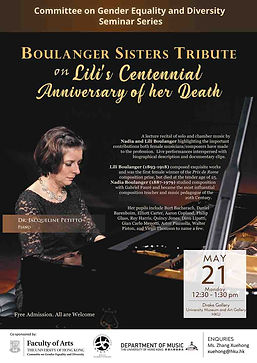 Boulanger Sisters Tribute on Lili's Centennial Anniversary of her Death