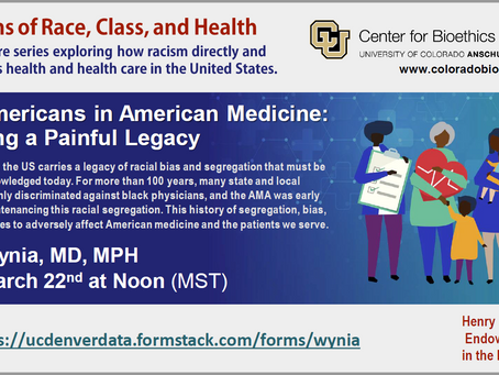 Webinar Opportunity – African Americans in American Medicine: Confronting a Painful Legacy