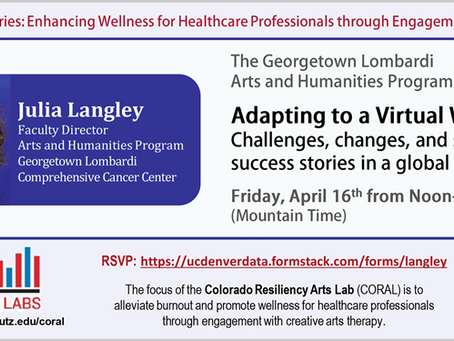 Webinar Opportunity- Enhancing Wellness for Healthcare Professionals, Adapting to a Virtual World