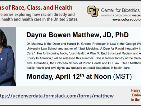 """Webinar Opportunity- A Conversation with Dr. Matthew, Author of """"Just Medicine"""""""