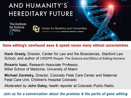 Webinar Opportunity- Cut, Paste, Delete: The Ethics of Gene Editing