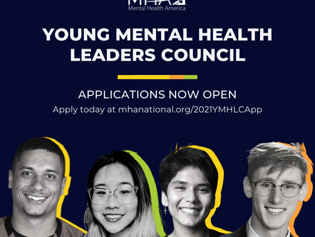 Leadership Opportunity- 2021 Young Mental Health Leaders Council Application