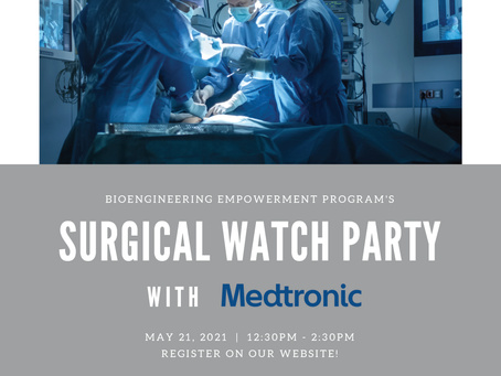 Surgery Watch Party Event with Medtronic