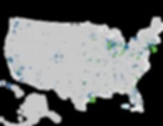 TrackCore Hospital Customer Map
