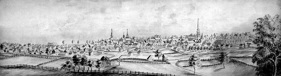--Lancaster from southwest, 1800-SJ Mark