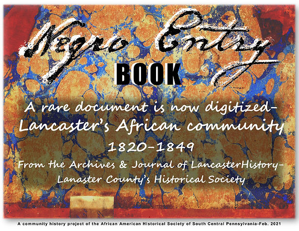 Cover-Negro Entry Book– AAHS release 2-2