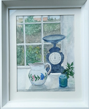 """""""Granny's scales"""" Watercolour 12"""" x 10"""" £75"""