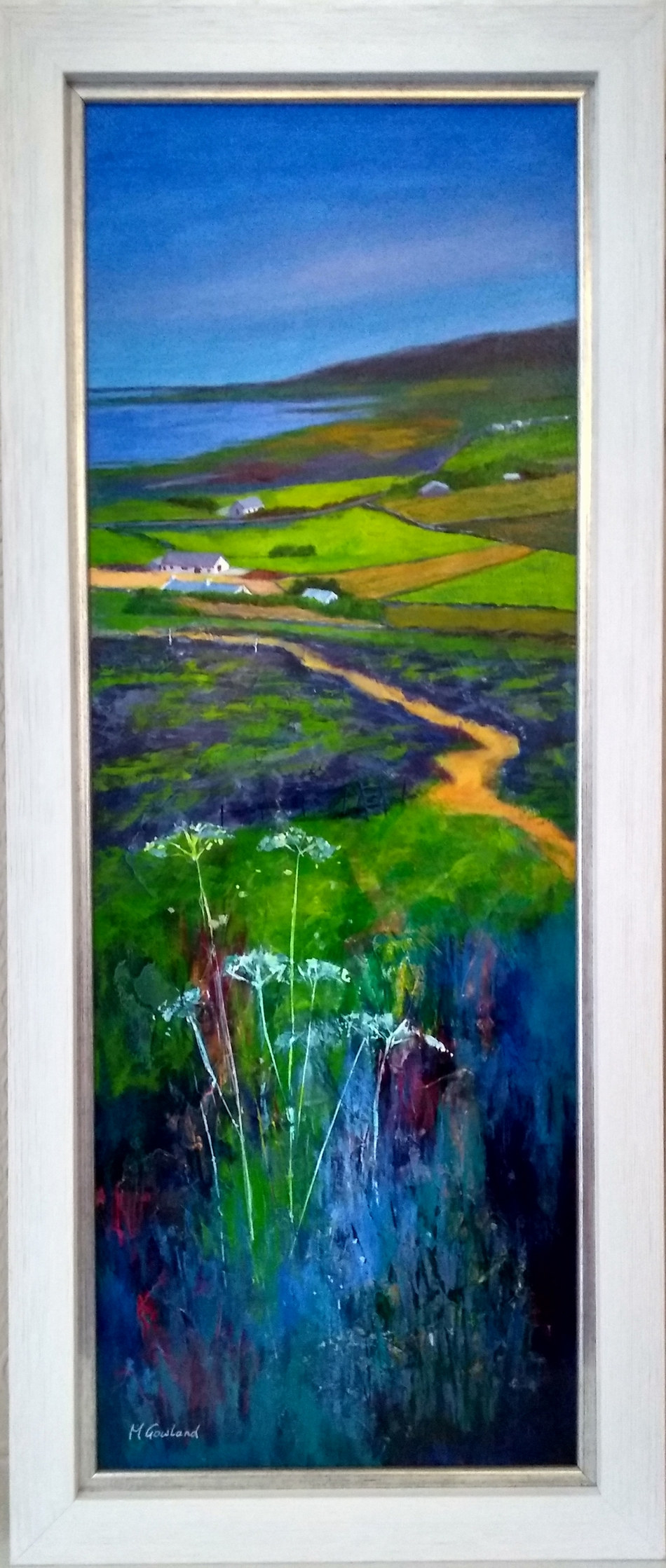 """Orkney in Summer""  Acrylic  26"" x 11""  SOLD"