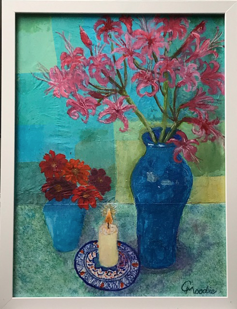 """""""Still Life with Candle""""  Mixed Media  32.5 x 42.5 cm  £60"""