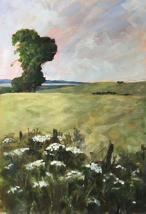 landscape by Sabine Hotho  oil 20 x 12