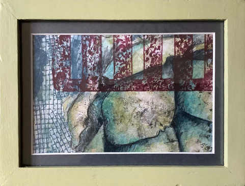 """""""Abstract""""  Mixed Media  14.5 x 19.5cm   £25"""