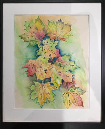 """""""Autumn Leaves""""  Watercolour  40 x 30cm  £40"""