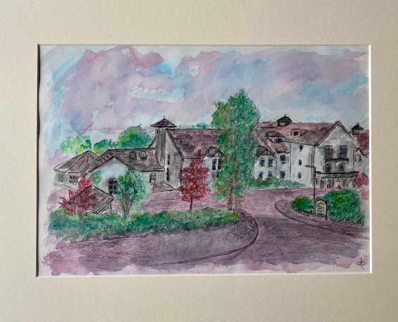 """St. Andrews House""  Watercolour  50 x 40cm  N.F.S."