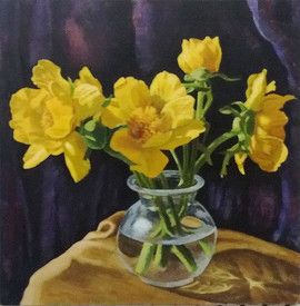 Daffodils by Ali McQueen.  Winner of the Summer Painting competition 2018
