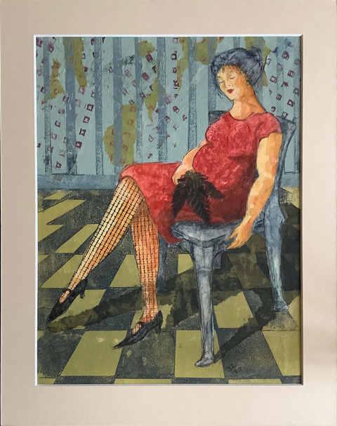 "Figure""  Mixed Media  36 x 28.5cm   £75"