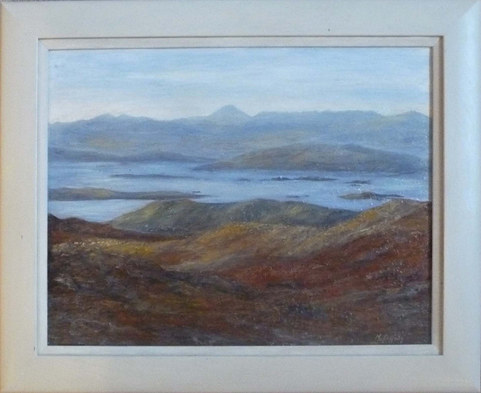 """Across Raasay Towards Skye""  Acrylic  24"" x 20.5""   £295"