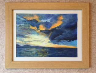"""Sunset in Sutherland""  Acrylic  18.5 x 14.5""  £80"