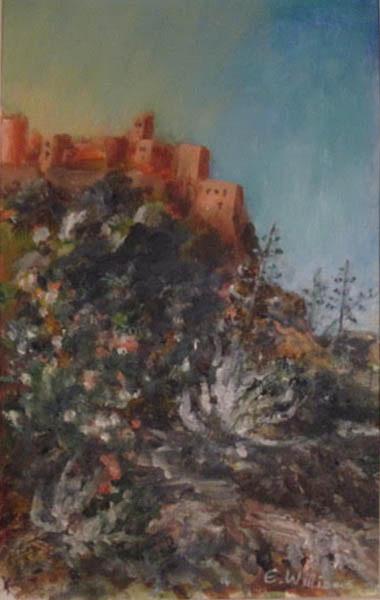 """Calvi, Corsica, the Citadelle""  oil  16"" x 12""  £40 unframed"