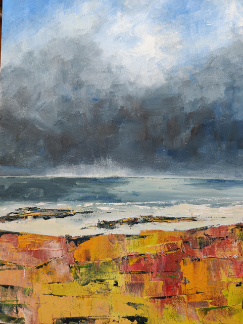 """Kingsbarns beach""  Oil  12"" x 10""  £40"