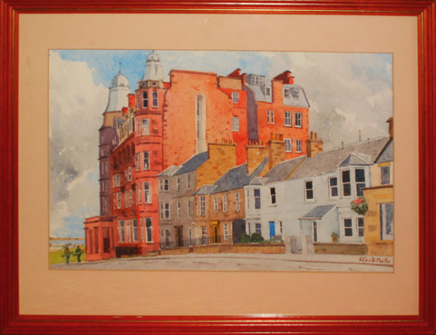 """""""Golf Place, St. Andrews""""  Watercolour  21"""" x 17""""  £80"""