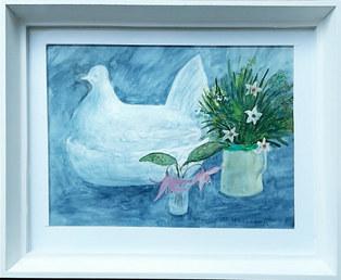 """Spring Chicken"" Watercolour 12"" x 10"" £75"