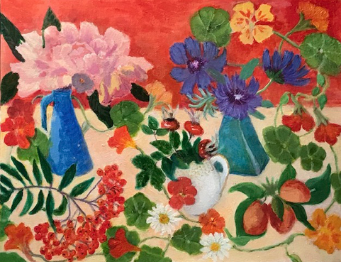 """Bountiful Garden""  Oil  46 x 34 cm unframed  £120"