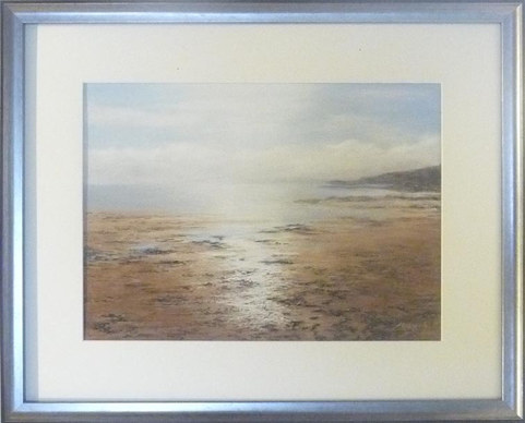 """Sunlit Sea and Sand""  Pastels  24"" x 19.5""  £195"