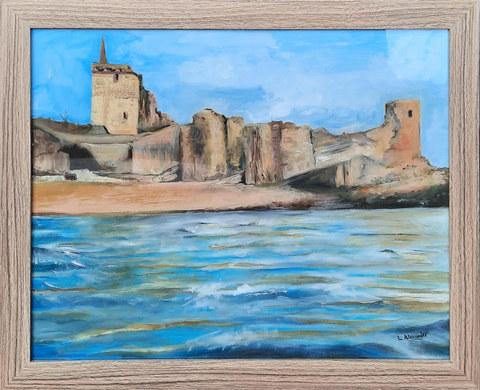 """""""St Andrews Castle"""" Oil 57 x 47cm  £150"""
