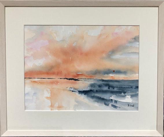 """Sunset""  Watercolour  56.6 x 47.1cm  £100"