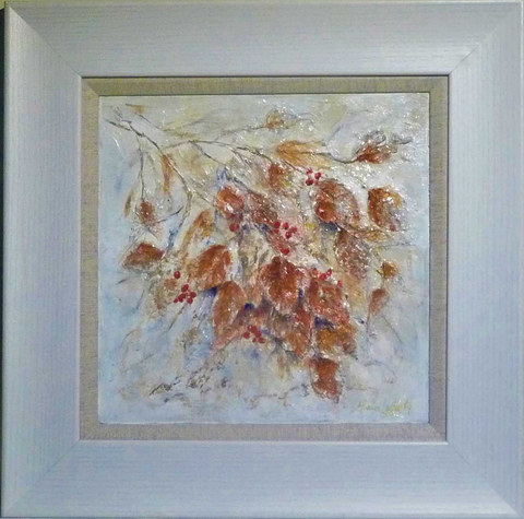 """First Frost""  Mixed Media  16"" x 16""  £110"