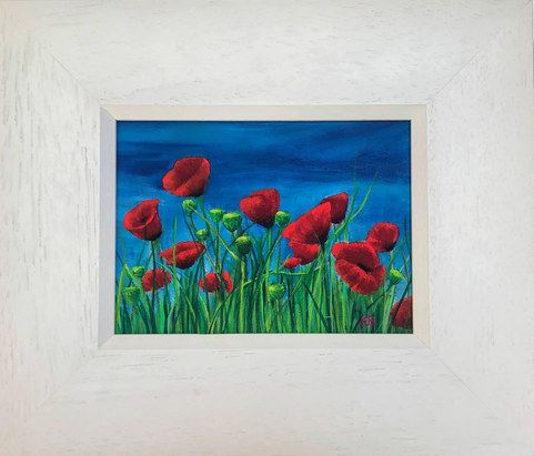"""""""Poppy Field Study 4"""" Acrylic 30 x 25.5cm   £49"""