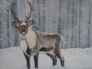 """It's Beginning to Look a Lot Like Christmas""  Pastel 17.5"" x 13.5"" £55"