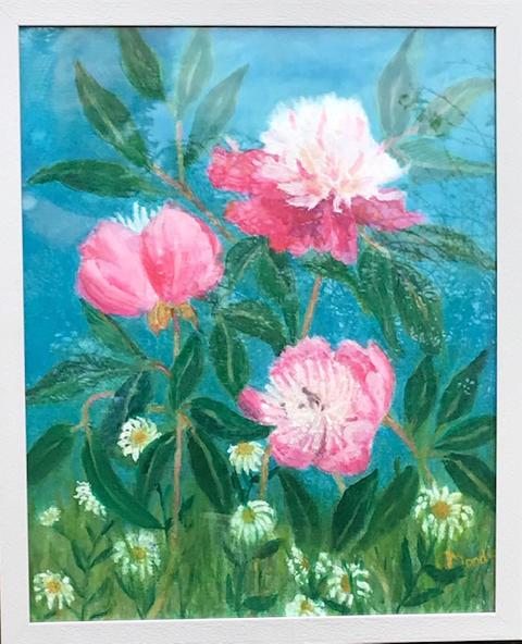 """""""Peony's & Daisies"""" Oil  43.5 x 53.5 cm  £120"""