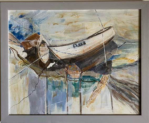 """""""Beached boat""""  Mixed Media  22"""" x 18""""   £200"""