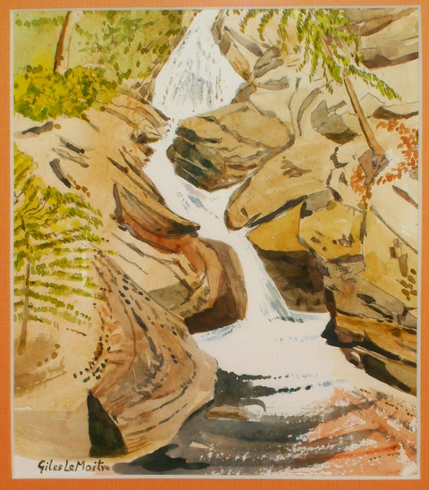 """Mountain Torrent""  Watercolour  13"" x 16""  £60"