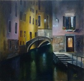 """Painting by Brenda Clark. Winner of the competition """"Mastering the Light"""" Oct 2019"""