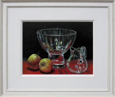 """2 apples & Glass"" Oil 18.5"" x 16"" £150"