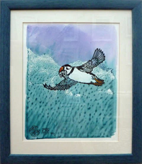 """""""Puffin""""  Mixed Media  30 x 35cm  £85"""