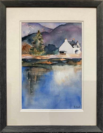 """""""Lochside Cottage""""  Watercolour    34.1 x 43.8cm    £90"""