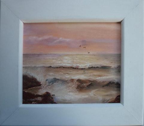 """A new dawn""  Oil Framed 16.5"" x 14.5""  £80"
