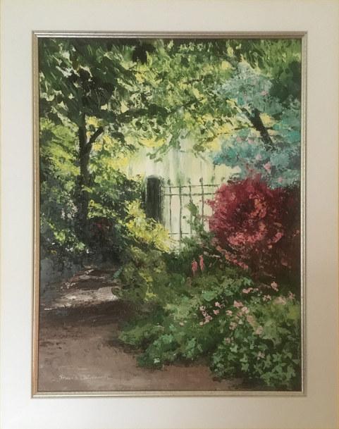 """Garden Sanctuary"" Oil 18"" x 14.5"" £185"