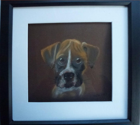 """""""When I grow up"""" Pastel Framed 14"""" x 14""""  £70"""