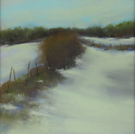 """Winter Scene by Liz Craig. Winner of the competition """"Through my Window"""" March 2018"""